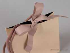 Luxury paper bag - grosgrain ribbon and cotton cord - details