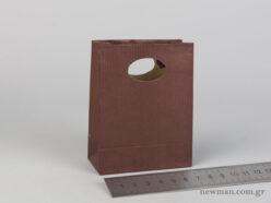 Χάρτινη τσάντα Χούφτα Νο00 Καφέ