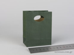 Paper bag with die-cut handle No0 cypress green