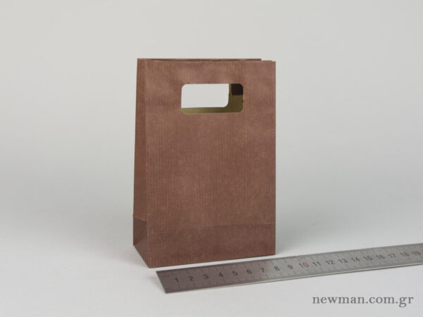 Paper bag with die-cut handle No1 brown