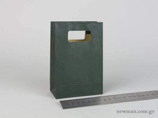 Paper bag with die-cut handle No1 cypress green