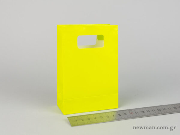 Paper bag with die-cut handle No1 light green
