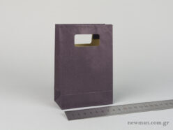 Paper bag with die-cut handle No1 dark blue