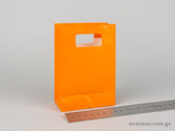 Paper bag with die-cut handle No1 orange