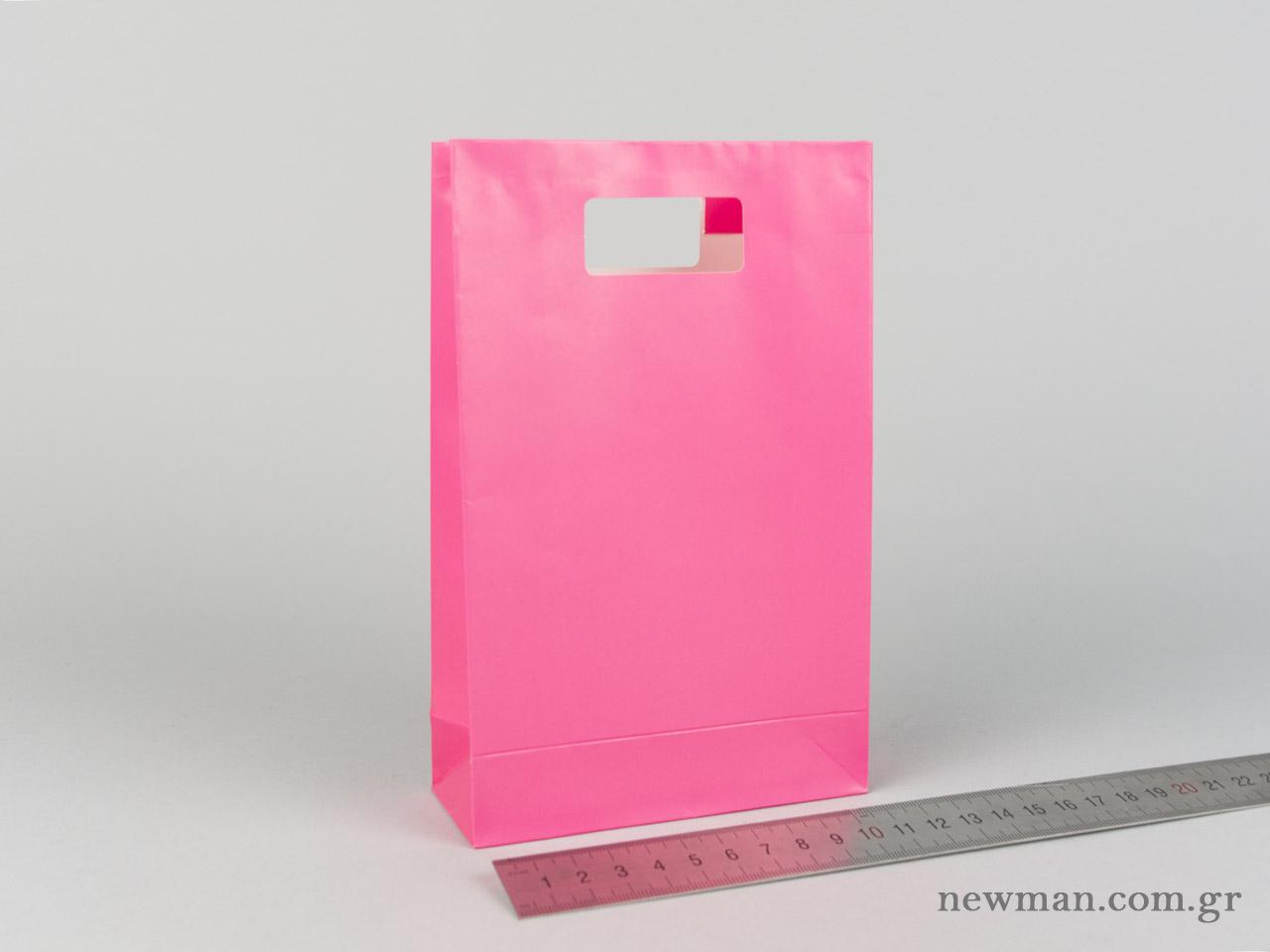 Χάρτινη τσάντα Χούφτα Νο02 Φούξια