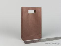 Χάρτινη τσάντα Χούφτα Νο02 Καφέ
