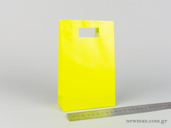 Χάρτινη τσάντα Χούφτα Νο02 Λαχανί
