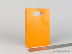 Paper bag with die-cut handle No2 orange