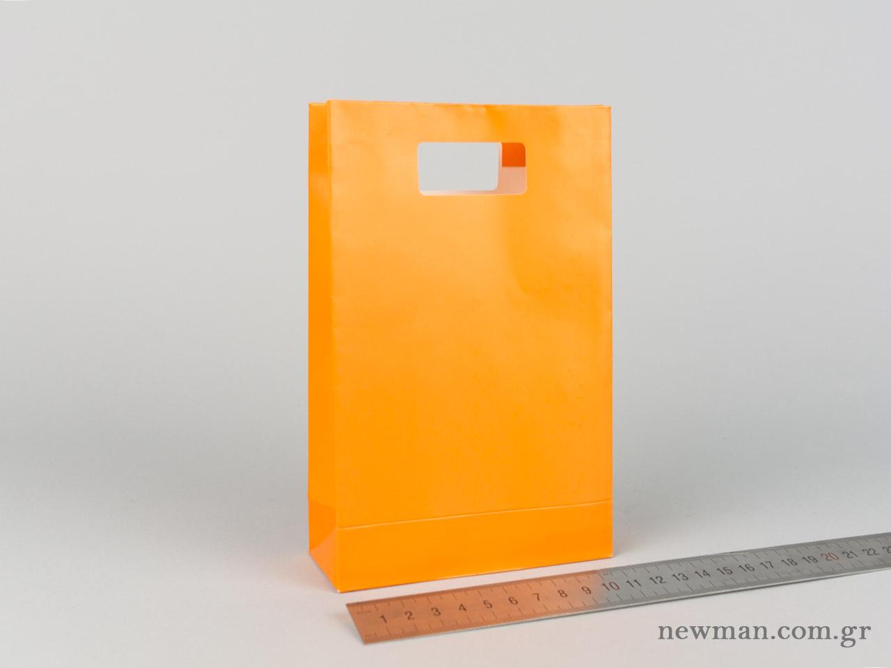 Χάρτινη τσάντα Χούφτα Νο02 Πορτοκαλί