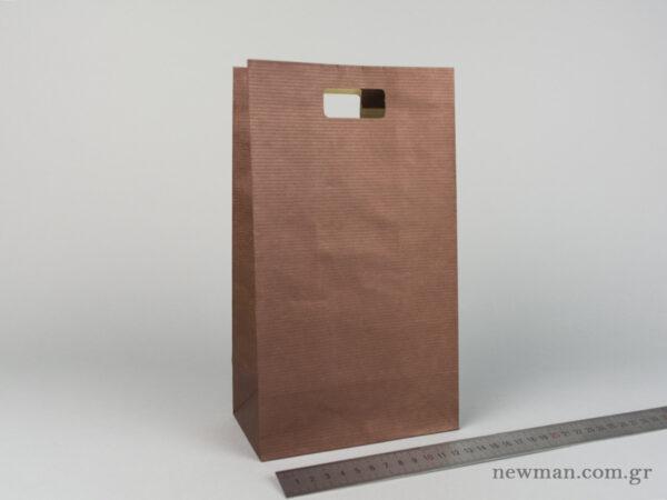 Χάρτινη τσάντα Χούφτα 03 Καφέ