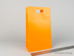 Paper bag with die-cut handle No3 orange