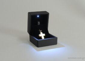 Κουτί για σταυρό ή δαχτυλίδι με φως led