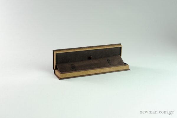 Κουτί Elegant καφέ σουέτ για ρολόι