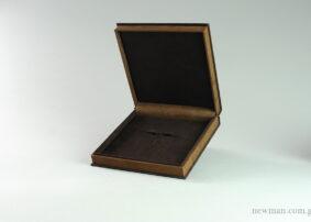 Κουτί Elegant καφέ σουέτ για σετ κοσμημάτων