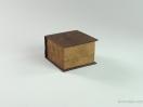 Κουτί Elegant καφέ σουέτ για σκουλαρίκια και σταυρό