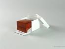 Κουτί ξύλινο για βέρες σε κόκκινο χρώμα