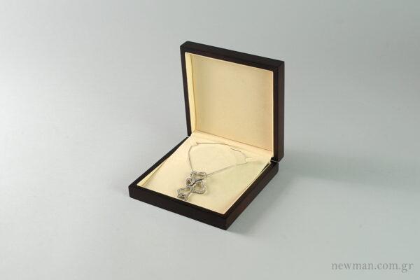 Ξύλινο κουτί κοσμημάτων για κολιέ