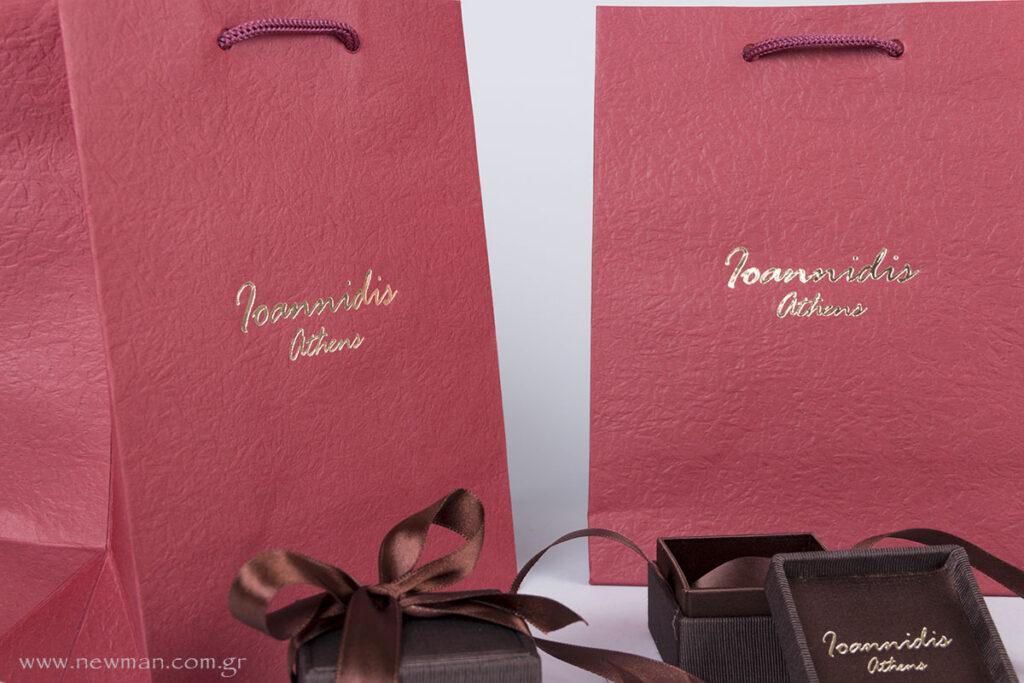 Ioannidis Athens εκτύπωση σε κουτιά κοσμημάτων & τσάντες χάρτινες