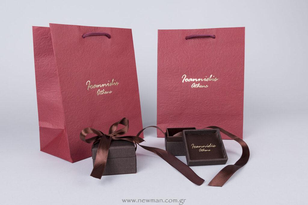 Ioannidis Athens εκτύπωση σε κουτιά κοσμημάτων και τσάντες χάρτινες