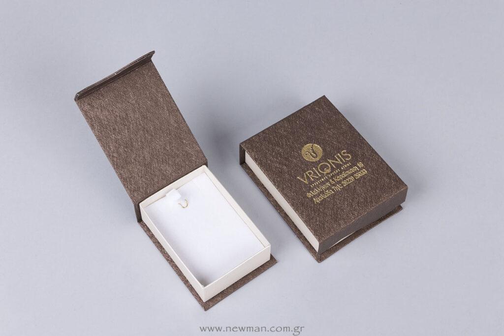 Κουτιά κοσμημάτων της σειράς MG δίχρωμα με μαγνητικό καπάκι