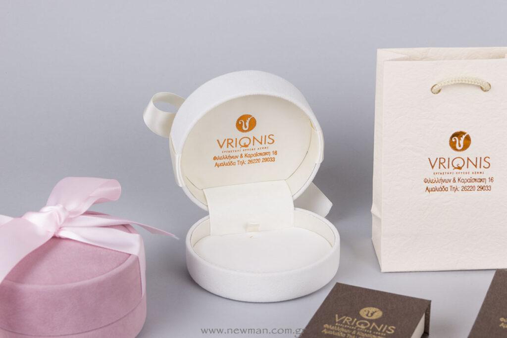 Κουτί σειράς PP σουέτ στρογγυλό με σατέν κορδέλα
