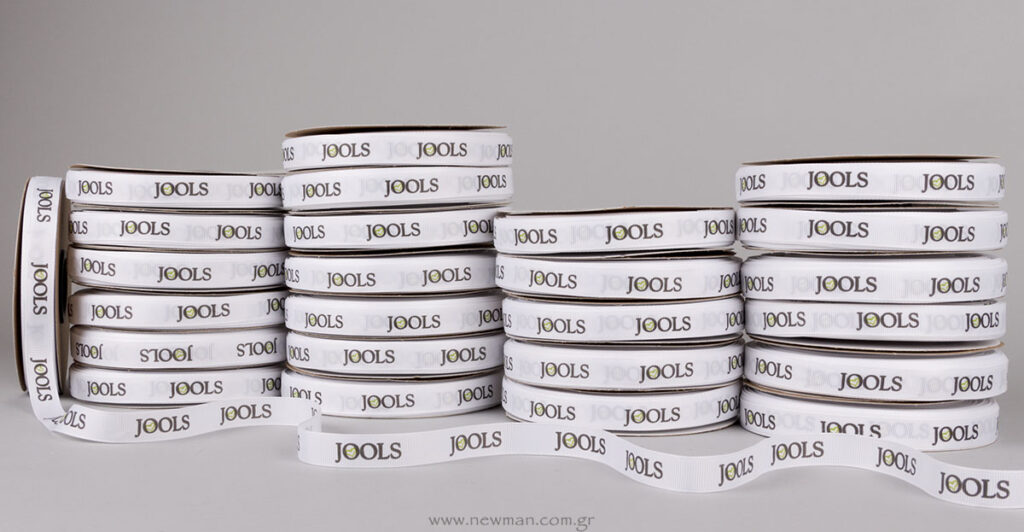 Jools κορδέλα γκρο με δύο χρώματα εκτύπωση