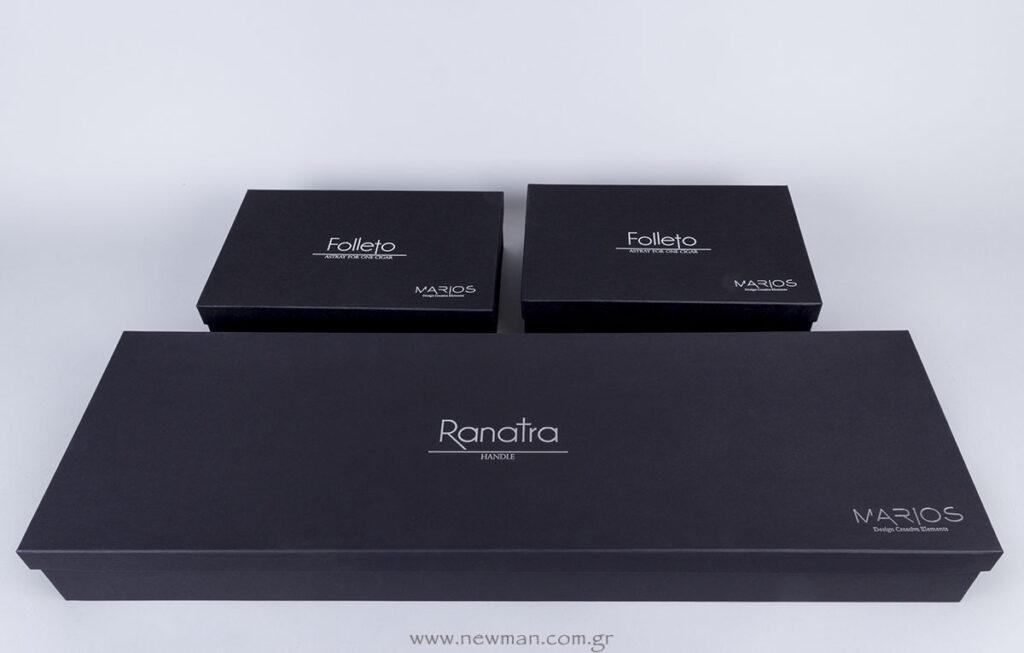 Ασημί εκτύπωση σε μαύρο ματ κουτί για Luxury συσκευασία!