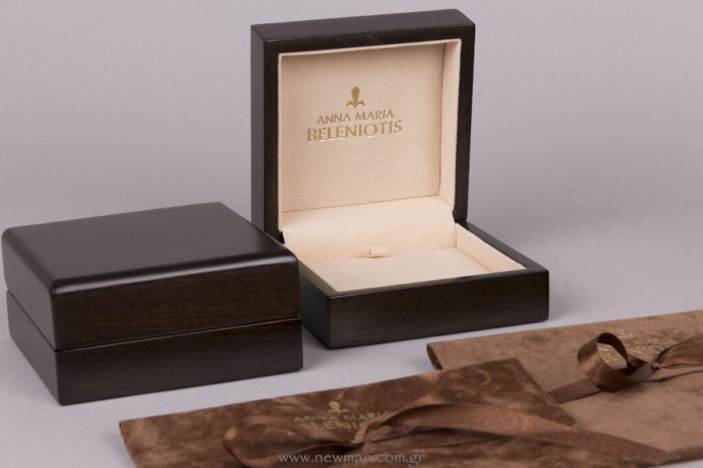 Κουτιά για κοσμήματα με εκτύπωση χρυσή θερμοτυπία