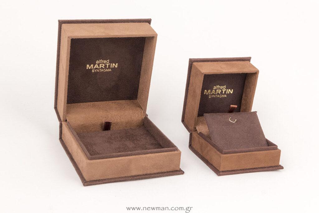 Ειδική παραγγελία για εκτύπωση χρυσοτυπίας εσωτερικά σε κουτί για κοσμήματα