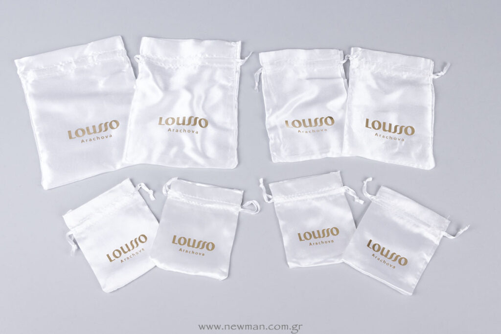 Lusso Arachova χρυσή εκτύπωση σε σατέν πουγκί