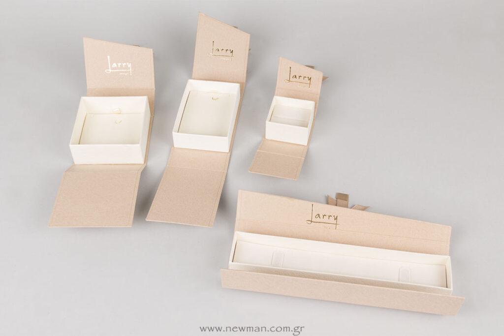 Σειρά HW χάρτινα κουτιά με μαγνήτη για κοσμήματα με εκτύπωση