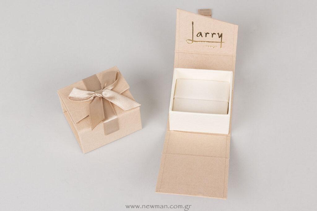 Larry design τυπωμένο κουτί για δαχτυλίδι με εκτύπωση