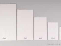 Τσάντα φάκελος λευκή σε 5 μεγέθη