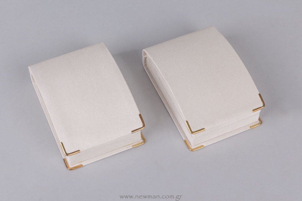 DCS σατέν γκρο σειρά κουτιά κοσμημάτων με εκτύπωση επωνυμίας