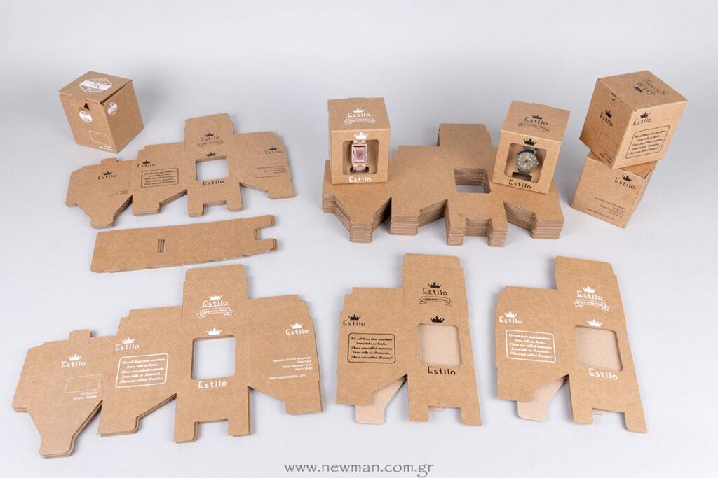 Custom κουτιά με παράθυρο και τύπωμα σε 5 πλευρές