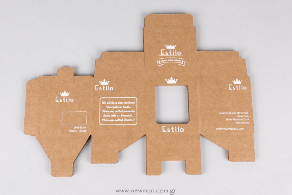 Φλατ/ανοιχτό κουτί για ρολόι τυπωμένο σε 5 πλευρές