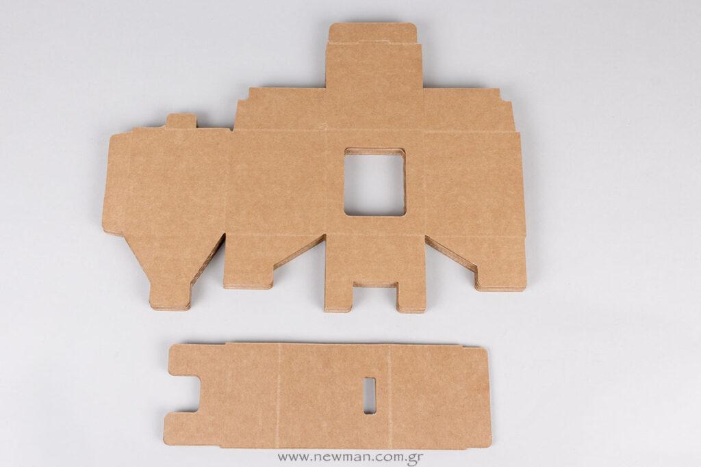 Φλατ/ανοιχτό κουτί και εσωτερική βάση για ρολόι (ατύπωτο)