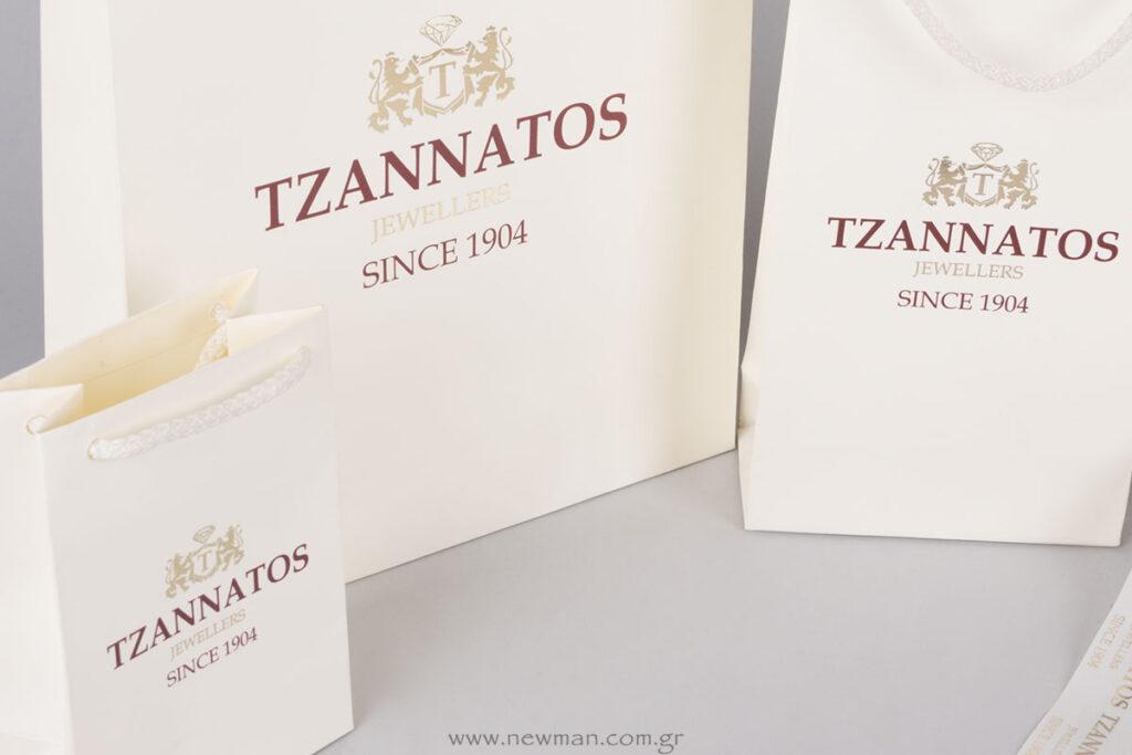 Επώνυμη συσκευασία κοσμηματοπωλείου Τζαννάτος