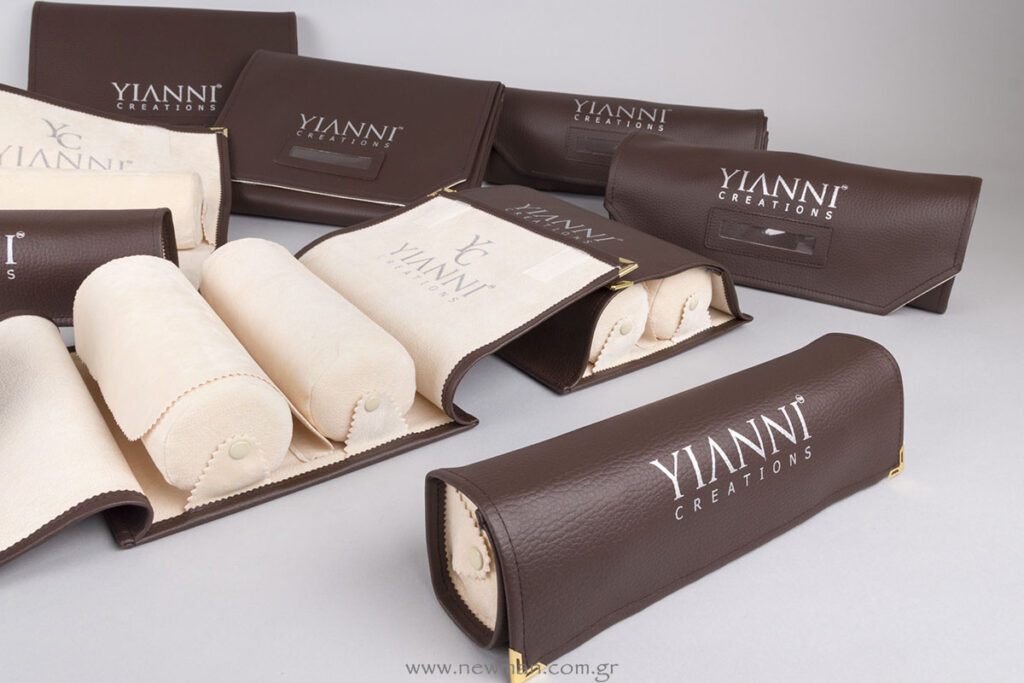 YIANNI CREATIONS logo on Jewellery Rolls
