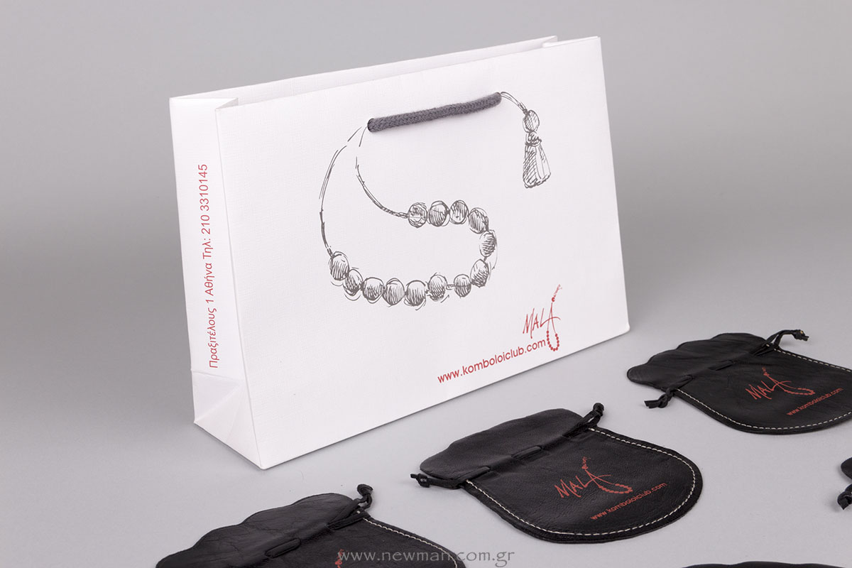 Mala luxury packaging with worry bead printed