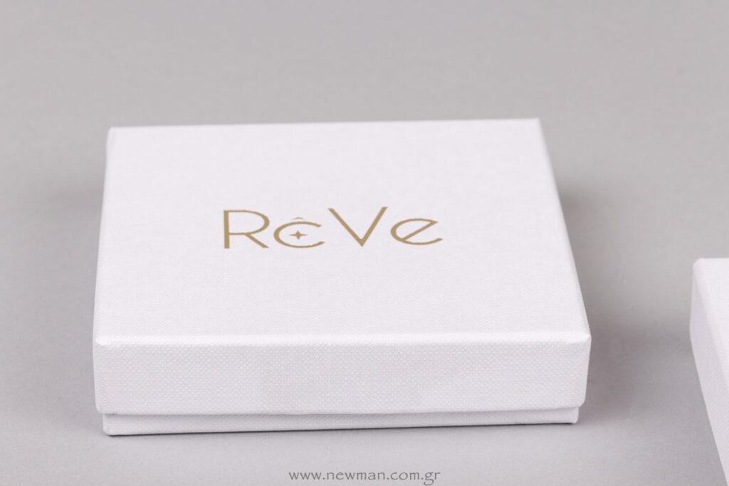 Χάρτινο κουτί ειδική παραγγελία με εκτύπωση λογότυπο Reve
