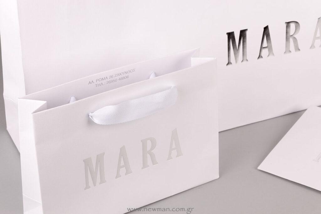 MARA silver printed bags