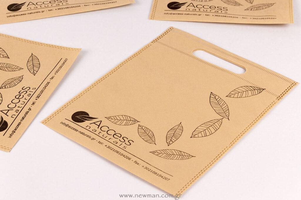 Access naturals τύπωμα σε τσάντα non-woven