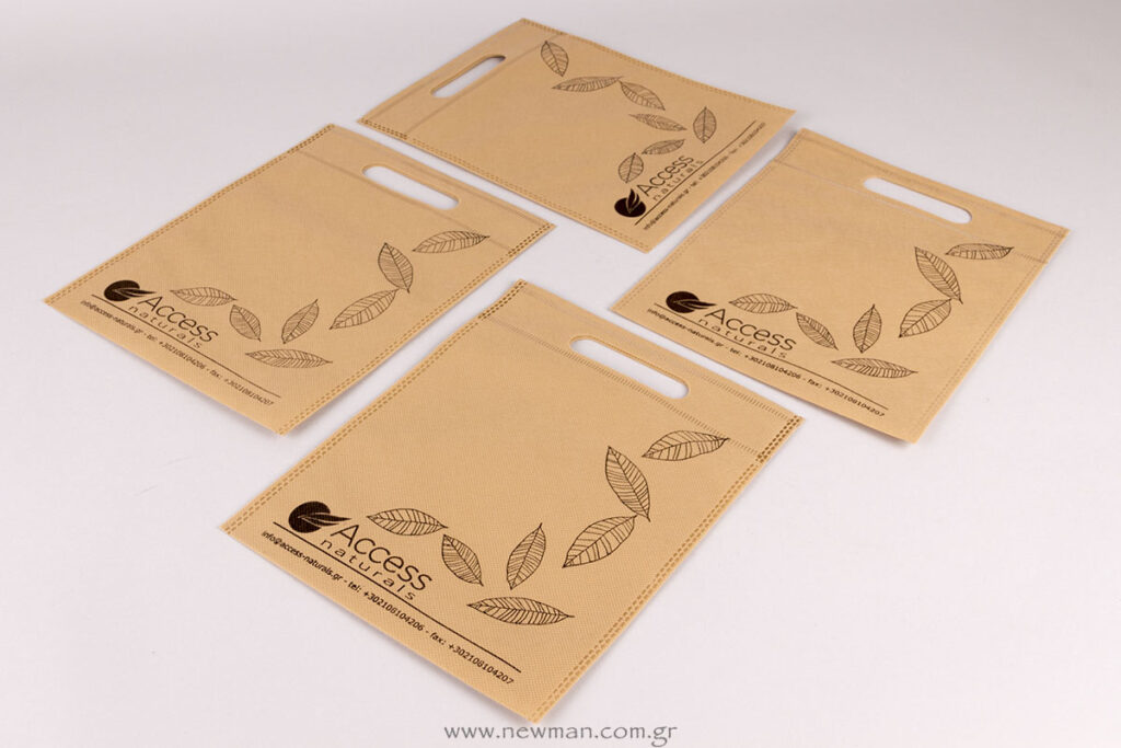 Τυπωμένη τσάντα non-woven με εκτύπωση μεταξοτυπίας
