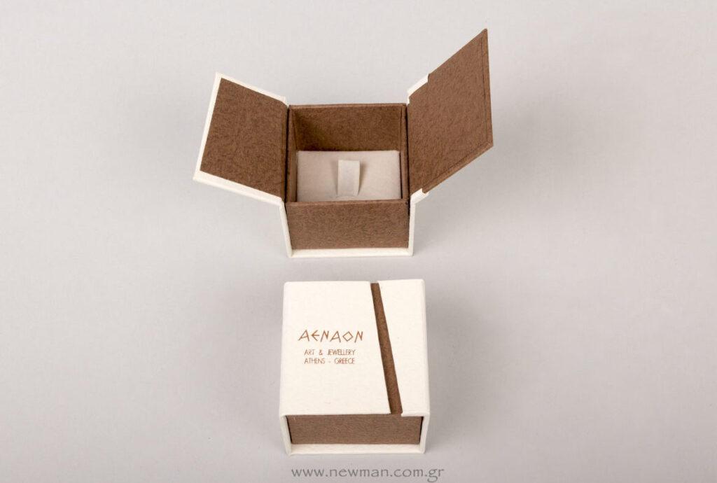 Κουτί της σειράς BJ με βάση για δαχτυλίδι