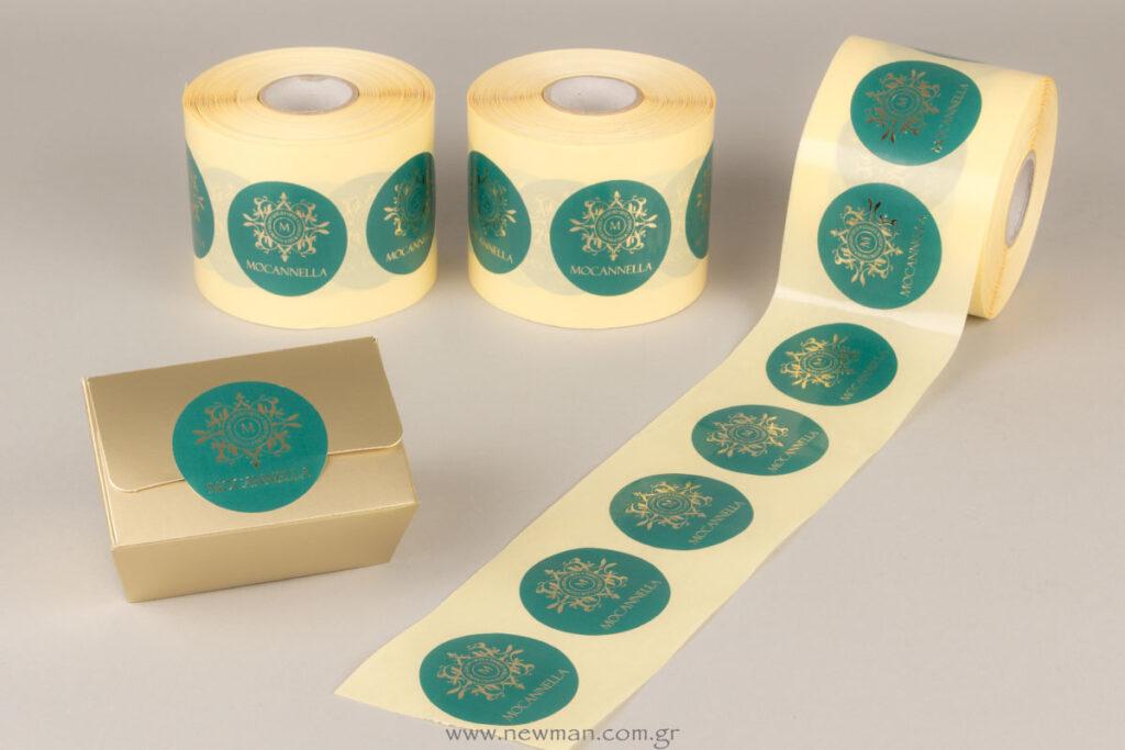 Αυτοκόλλητες ετικέτες με λογότυπο για το Mocannella