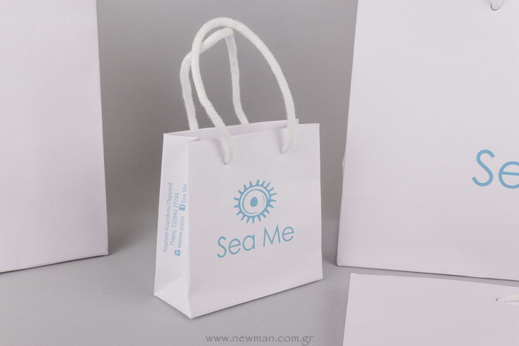 Sea Me Paros logo printed on bag
