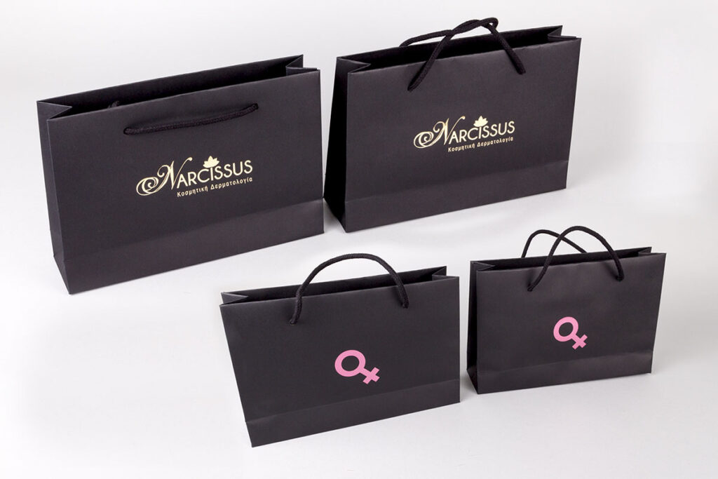Narcissus logo on Burano Bags