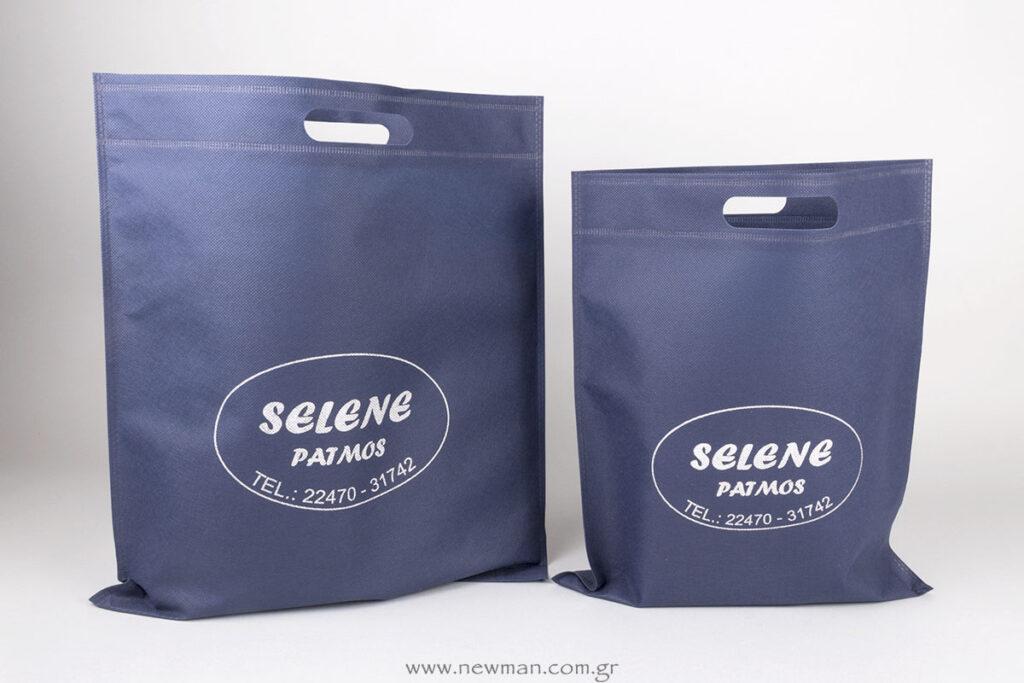 Μεταξοτυπία σε τσάντα non-woven