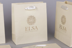 Elsa logo printed on bags